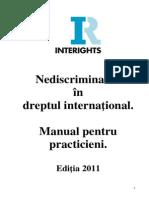 Interights Nediscriminarea Manual Ro Final for PDF