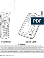 30074 Panasonic KX-TC1466LAB 1466LAW Telefono Inalambrico Manual de Servicio