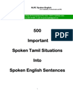 500 Important Spoken Tamil Situations Into Spoken English Sentences Sample