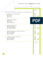 Placement Test English A1 - B1.PDF