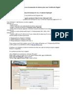 Ajuda Certificado Digital - Erros Relatados