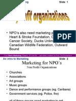 Marketing NPOs