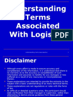 Code 305 - Understanding Terms Associated With Logistics