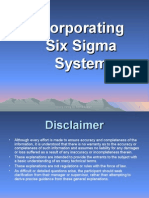 Code 2011 - Six Sigma - Incorporating Six Sigma System