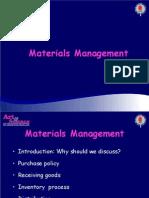 Materials Manage