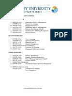 course structure mfc