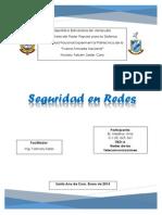 Trabajo de Redes. Seguridad en Redes. Ana Medina