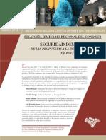 Dammert, Seguridad Democratica. De las propuestas a la implementación de políticas públicas
