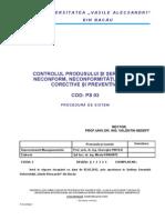 Ps 03 Controlul Produsului Si Serviciului Neconform, Neconformitati Ed 2,