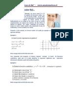 5.-Graficar la función f(x)
