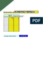 Viscosities Blending Formula