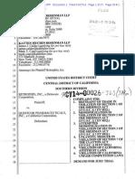 01/10/2014 - Antitrust lawsuit against Questcor in California -  Complaint Document