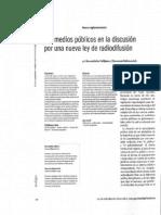 2009 - Revista Trampas - Califano y Rabinovich_Los medios públicos en la discusión por una nueva ley