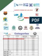 Reglamento Torneo de Liga 2014