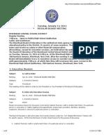 Riverhead School Board Meeting Agenda, Jan. 14, 2014