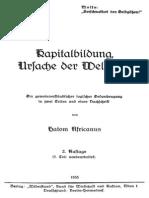 Africanus, Hatom - Kapitalbildung, Ursache der Weltkrise (1935)