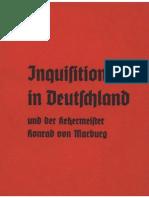Alckens, A. - Inquisition in Deutschland und der Ketzermeister Konrad von Marburg (1934)