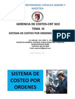 Sistema de Costeo Por Proceso y Ordenes