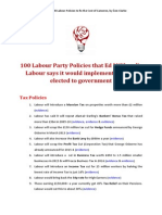 100 Labour Party Policies.......