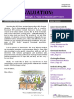 NYU Stern Evaluation Newsletter