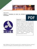 Artigo Analise Tolerancia Risco Atividade Manutencao Elevadores