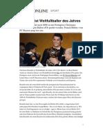 Weltfussballer Des Jahres 2013 Ronaldo Messi Ribery