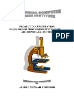 Sales Order Processing Project Documentation