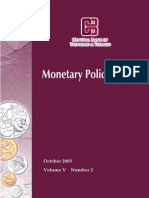 Monetary Policy Report October 2005