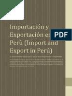 Importación y Exportación en el Perù