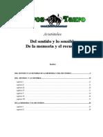 Aristoteles - Del Sentido Y Lo Sensible - De La Memoria Y El Recuerdo