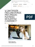 W jaki sposób freelancer może przyjmować płatności od klientów z zagranicy_