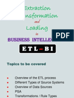 B I - Extraction, Transformation & Loading - POWER POINT SHOW