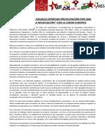Manifiesto ORGANIZACIONES SOC. Acuerdo Unión Europea