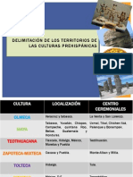 DELIMITACIÓN DE LOS TERRITORIOS DE LAS CULTURAS PREHISPÁNICAS