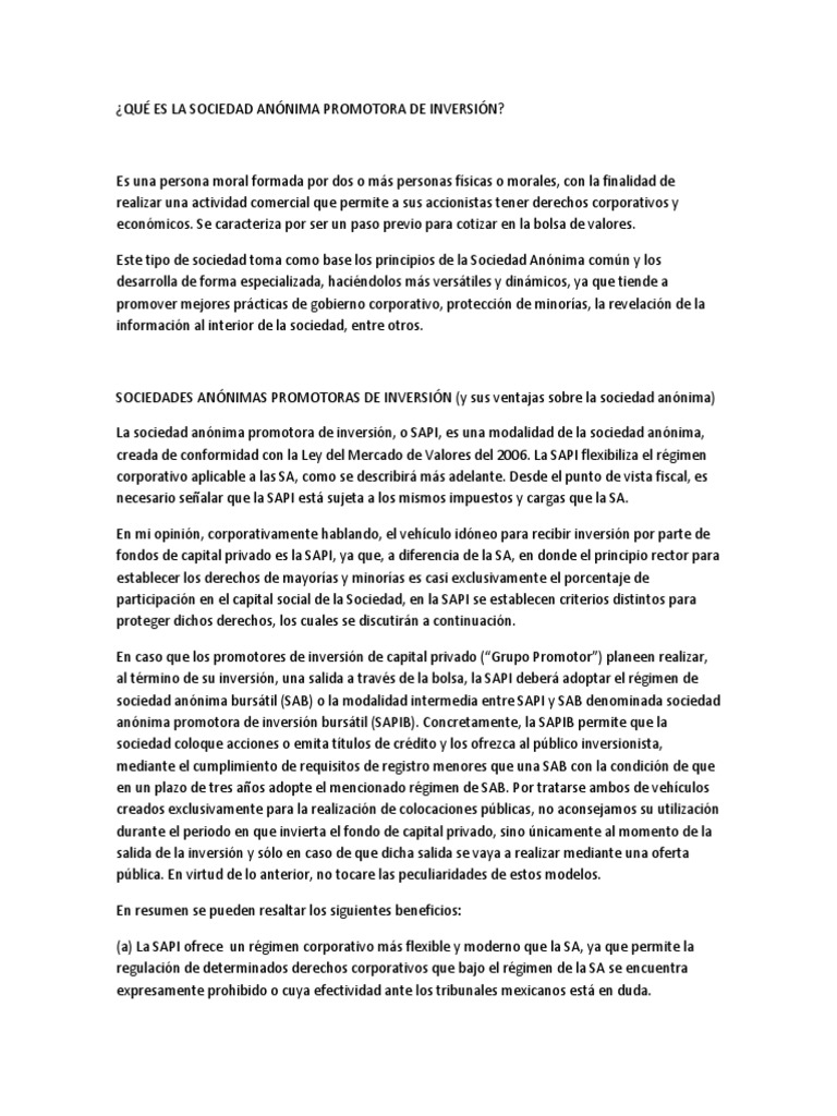 Contrato Constitutivo de Sociedad Anónima