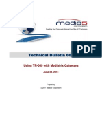 Technical Bulletin 0667 - Using TR-069 With Mediatrix Gateways