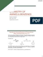 Chemistry of Amines & Benzenes
