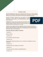 Reglamento Interno Ricardo Palma