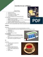Elaboración de mezclas de uso cotidiano