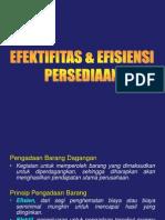 Efektifitas & Efisiensi Persediaan