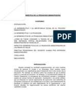 LA HERMENÉUTICA DE LA PEDAGOGÍA EMANCIPADORA DILIA ROMERO