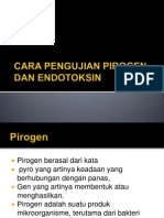 Cara Pengujian Pirogen Dan Endotoksin