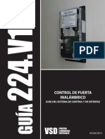 224 - Wireless Door Controller Guide - Spanish