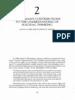 Contribuciones de Shneidman Al Pensamiento Suicida