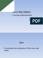 Carry Skip Adders