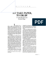 To Take Paper, To Draw, by John Berger