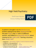 High Yield Psychiatry