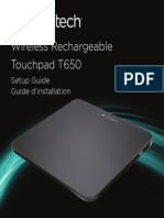Wireless Rechargeable Touchpad t650