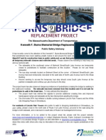 Kenneth F. Burns Memorial Bridge Replacement Project Public Safety Advisory