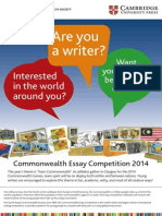 Commonwealth Essay Competition 2014 Flyer
